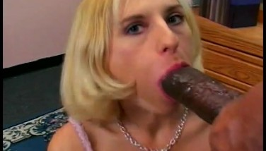 Petite Platinum-blonde Attempts To Take Big Black Cock  Gentlemens Video