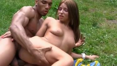Tattooed Dame Romped In A Park