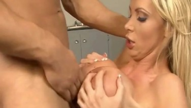Nikki Benz Enormous Platinum-blonde Breasts Facialed Exlusively At Dcup