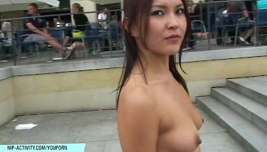 Sexy Stunner Agnes Has Joy On Public Streets