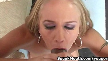 Talented Kylie Wilde Gives Head To A Phat Boner Then Gets Jism Via Her Face