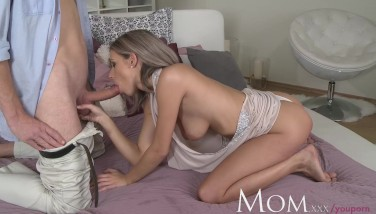 Mom Blond Mummy Loves A Slow Deep Throat Before Utter On Sex