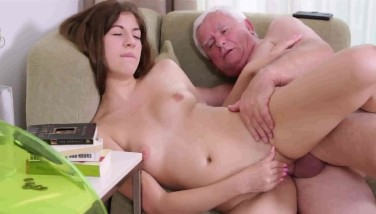 Teen Chick And Old Grandpa