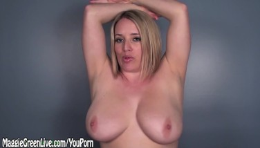 All All-natural Maggie Wants Her Boobs Coated In Jizz Joi