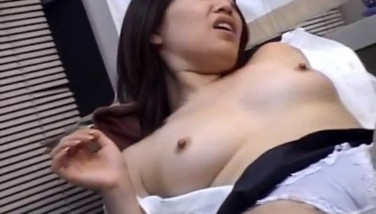 Chiharu Okuna Gets Thumbs In Tongued Cooch And Stiff Man Sausage In Mouth