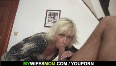Blonde Mom In Law Entices Him To Sex