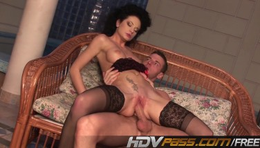 Curly Hair Honey Ravages In Steamy Stocking.mp4