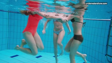 Three Bare Dolls Have Joy In The Water