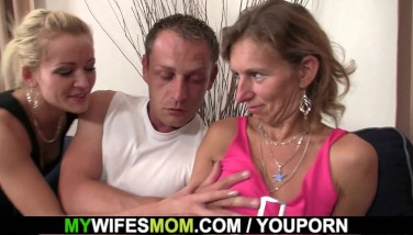 Watching Her Husband Boinking Old Mother From Behind