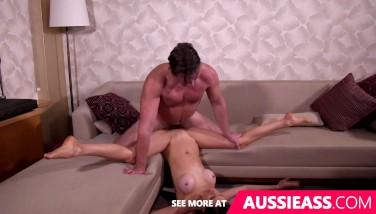 Cute Aussie Doll Does Splits While Porked Upsidedown