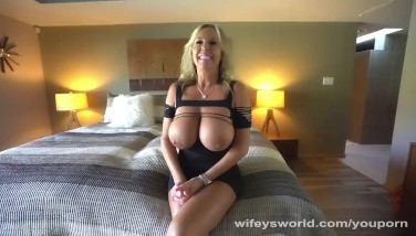 Milf With Huge Boobies Gets Ravaged And Decorated With Cum